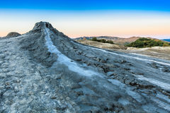 Mud Volcanoes in Buzau, Romania. Strange landscape produced bu active mud volcanoes in Buzau, Romania Royalty Free Stock Image