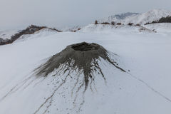 Mud Volcanoes in Buzau, Romania Stock Images
