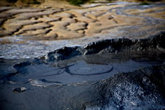 Mud volcanoes. Royalty Free Stock Photography