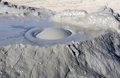 Mud Volcanoes in Buzau. Romania, natural reservation Stock Photo