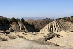 Mud Volcanoes in Buzau, Romania. Strange landscape produced bu active mud volcanoes Royalty Free Stock Image