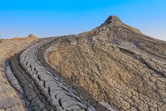 Mud Volcanoes in Buzau, Romania Stock Images