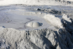 Mud Volcanoes in Buzau, Romania. Mud Volcanoes in winter. Location: Buzau Romania Stock Image
