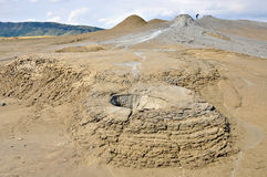 Mud volcanoes in eastern europe Royalty Free Stock Photography