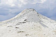 Mud volcanoes erupting in summer Royalty Free Stock Photo