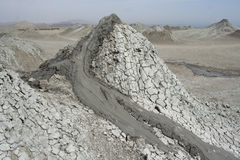 Mud volcanoes in Gobustan National Park. horizontal. Stock Photo