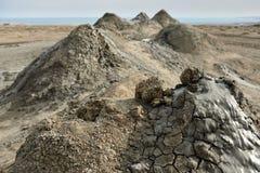 Mud volcanoes of Gobustan near Baku, Azerbaijan royalty free stock photos