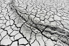 Mud volcanoes landcape with cracked earth Stock Photo