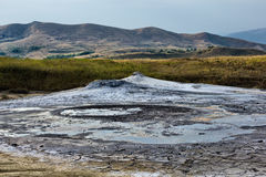 Mud volcanoes landscape Royalty Free Stock Images