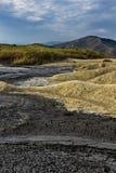 Mud volcanoes landscape Stock Images