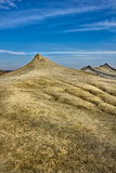 Mud volcanoes landscape Royalty Free Stock Photos
