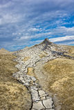 Mud volcanoes landscape Stock Photography