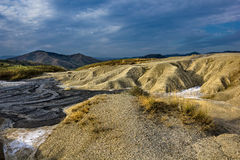 Mud volcanoes landscape Stock Image