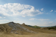 Mud volcanoes landscape Royalty Free Stock Photo