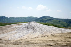 Mud volcanoes landscape Royalty Free Stock Photography