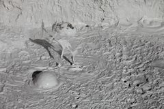 Mud volcanoes and mud cones Stock Photos