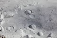 Mud volcanoes and mud cones Royalty Free Stock Photo