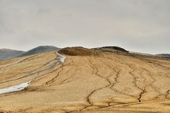 Mud volcanoes Stock Photography