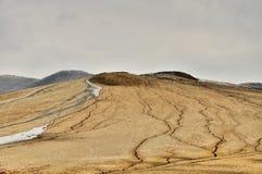 Mud volcanoes Stock Photography