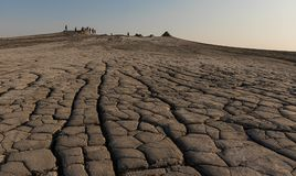 At The Mud Volcanoes - Paclele, Buzau, Romania royalty free stock photography