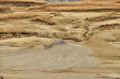 Mud volcanoes peaks Royalty Free Stock Images