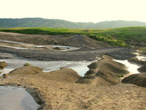 Mud Volcanoes. Picture taken near Berca in Buzău County, Romania Royalty Free Stock Images