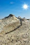 Mud volcanoes Royalty Free Stock Photo