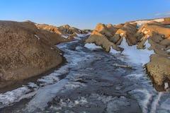 Mud Volcanoes, Romania Stock Photography