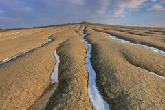 Mud Volcanoes, Romania Stock Photo