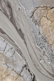 Mud Volcanoes - Texture and eruption -Romania, Buzau, Berca Royalty Free Stock Images