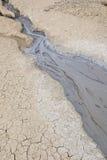 Mud Volcanoes - Texture and eruption -Romania, Buzau, Berca Royalty Free Stock Photography