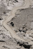 Mud Volcanoes - Texture and eruption -Romania, Buzau, Berca Royalty Free Stock Photos