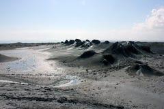 mud volcanos Stock Image