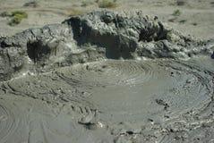 Mud vulcano cone Royalty Free Stock Images