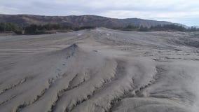 Mud Vulcanoes In Romania,. Aerial Movie stock footage