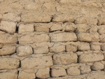 Mud wall in Luxor Stock Image