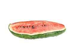 A mudança da melancia transformou-se carne verde no vermelho quase vermelho foto de stock