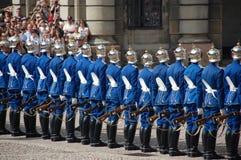 Mudança de Éstocolmo dos protetores reais Fotos de Stock Royalty Free