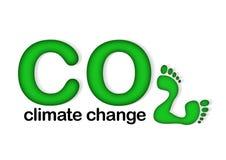 Mudança de clima do CO2 Imagens de Stock