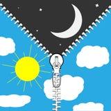 A mudança de dia e noite Imagem de Stock