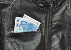 Mudança de EUR Foto de Stock Royalty Free