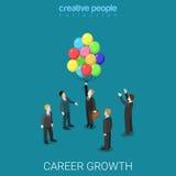 Mudança de trabalho do crescimento da carreira que caça cabeças o vetor isométrico liso 3d ilustração do vetor