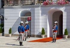 Mudança de um protetor de honra no palácio presidencial em Bratislava Fotos de Stock