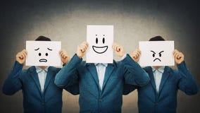 Mudança diferente do humor das emoções imagens de stock royalty free
