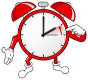 Mudança do despertador às horas padrão Foto de Stock Royalty Free