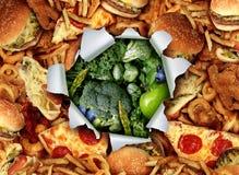 Mudança do estilo de vida da dieta ilustração do vetor