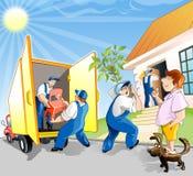 Mudança do homem a residência ilustração do vetor