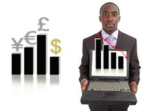 Mudança do mercado de valores de acção Imagens de Stock Royalty Free