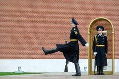 Mudança do protetor de honra Ceremony no túmulo do desconhecido fotos de stock royalty free