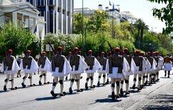Mudança do protetor em Atenas Grécia Imagens de Stock Royalty Free